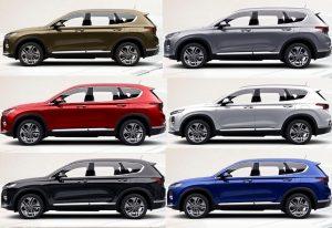 Chi tiết kích thước và động cơ 6 phiên bản của Hyundai Santa Fe 2019