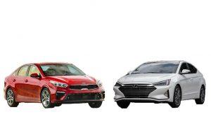So sánh nhanh giá bán Hyundai Elantra và Kia Cerato