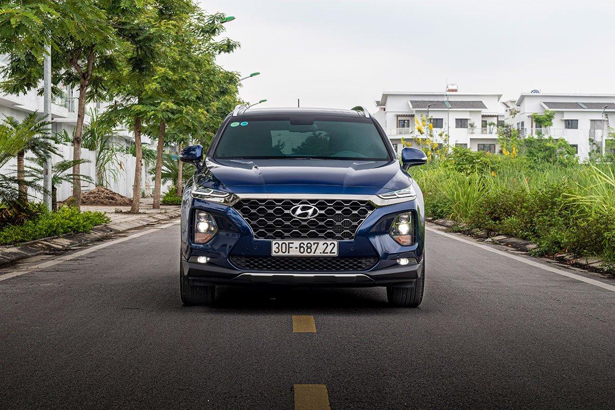 Đánh giá chi tiết thiết kế đầu xe Hyundai Santa Fe 2020