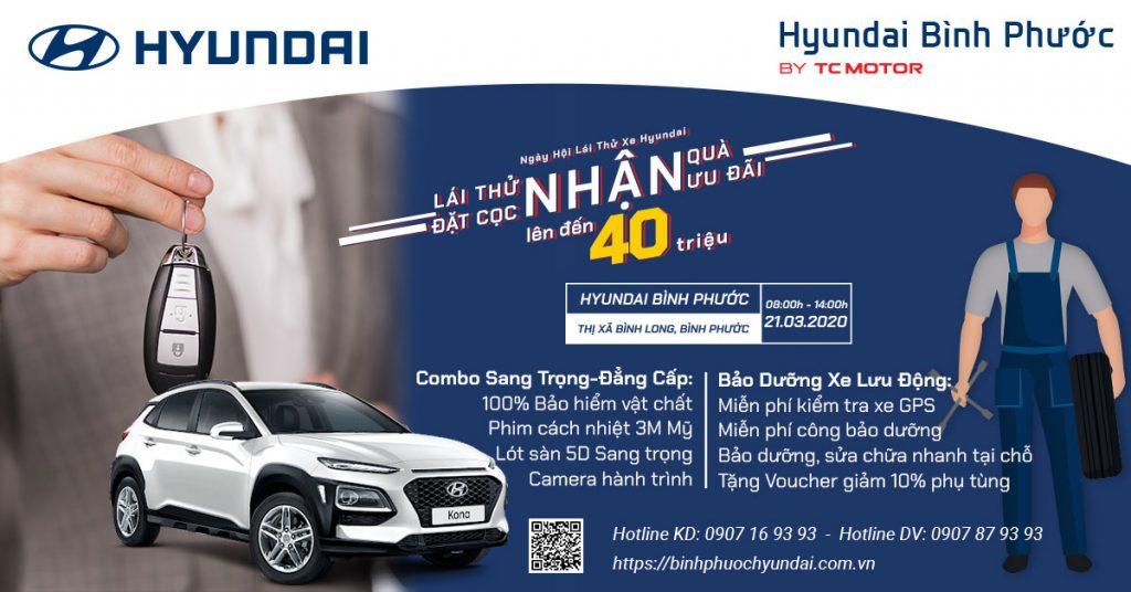 ngày hội lá thử xe hyundai bình phước tháng 03/2020