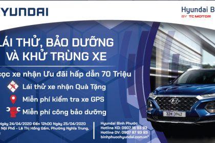 Ngày Hội Lái Thử Xe Hyundai Và Bao Dưỡng, Khử Trùng Xe Miễn Phí Tại Đak Nông